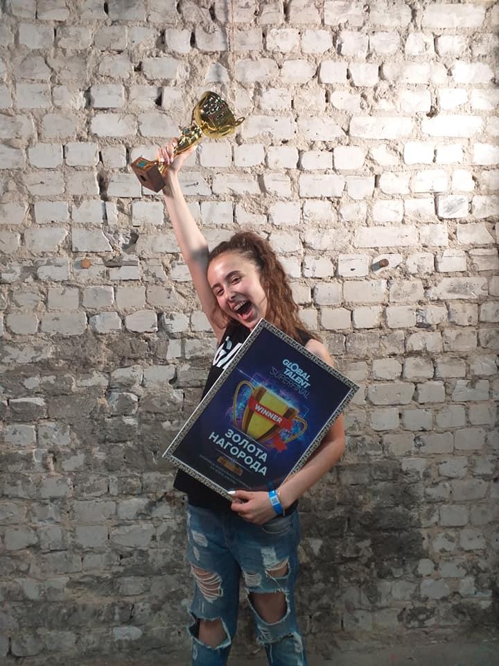Мукачівка Іванна Решко - володарка Золотої нагороди суперфіналу національного творчого проекту Global Talent Superfinal 2019.
