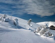 Зимові вершини Боржави з висоти пташиного польоту