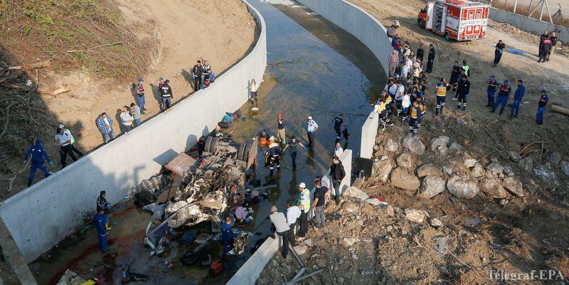 У Туреччині впала в річку вантажівка, яка перевозила нелегалів, загинули 22 людини