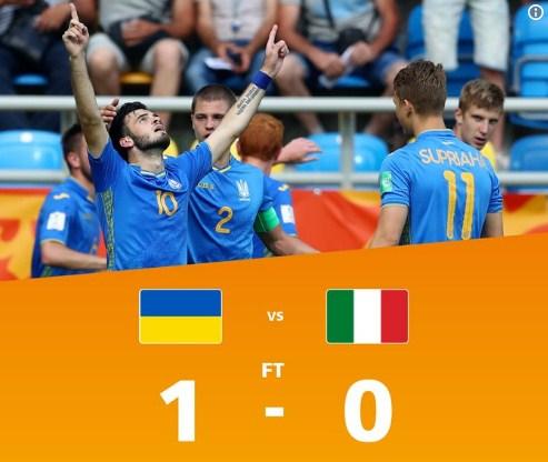 Збірна України з футболу віком до 20 років (U-20) перемогла однолітків з Італії і пробилась у фінал чемпіонату світу.