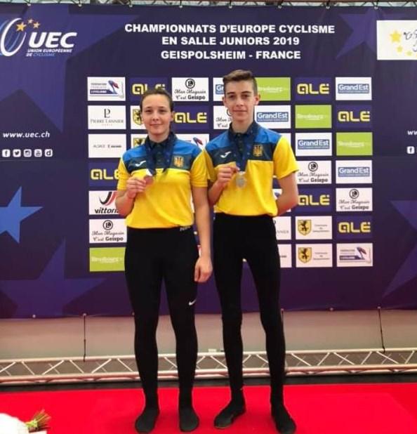 Спортсмени вибороли друге місце на чемпіонаті Європи з велосипедного спорту у залі.