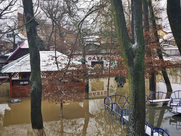 Рівень води у Верке суттєво піднявся після дощів.
