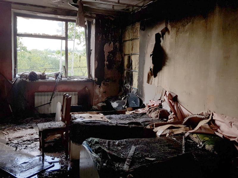 Ввечері 11 серпня трапилася пожежа на вул. Верховинській у Сваляві.