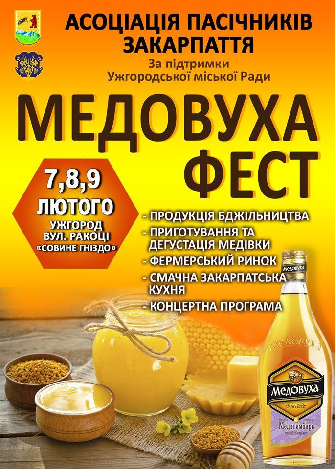 Уже традиційний «Медовуха Фест» відбудеться в Ужгороді – 7-9 лютого в історико-культурному центрі «Совине гніздо».