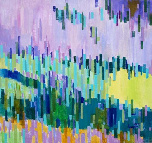 Молода художниця  володіє тонким відчуттям кольорів та відтінків
