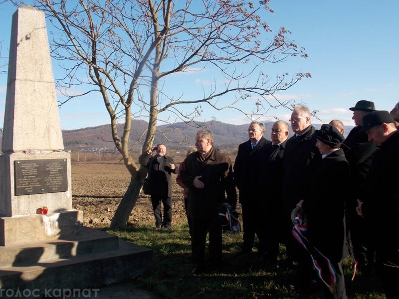Поблизу Сваляви вшанували пам'ять про перехід угорських племен через Карпати (ФОТО)