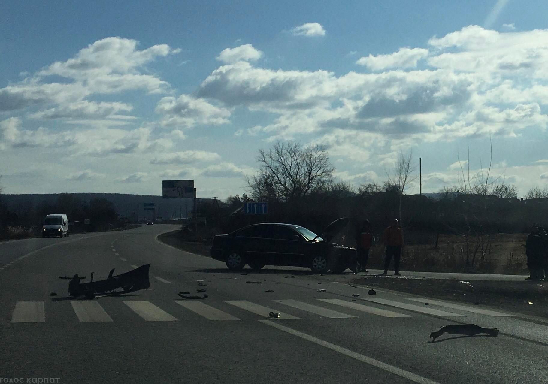 Авария произошла на пересечении шоссе и одной из улиц села Баранинцы.