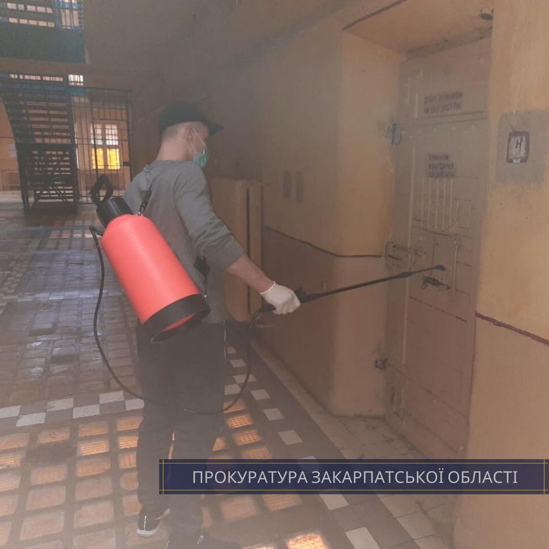 Прокуратурой Закарпатской области проведена проверка в Закарпатской УВП №9 по соблюдению требований законодательства Украины во время принятие мер по предотвращению распространения вируса COVID-19.